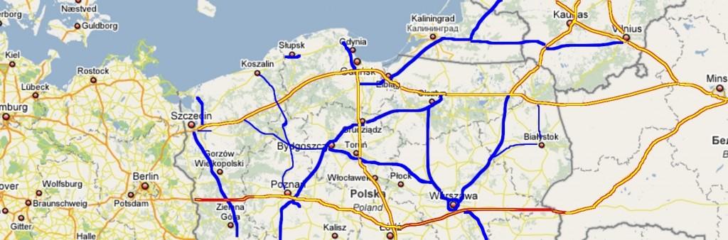 """Ilustracja 6 """"Berlinka"""" jako Autostrada """"pomorsko-warmińska"""" prowadząca do Kowna i Mińska.."""